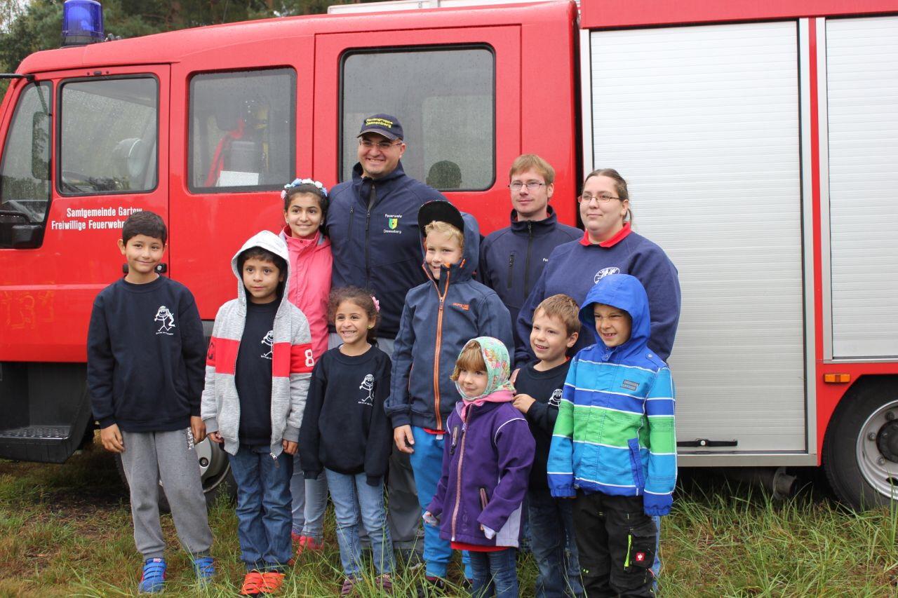 Floriangruppe Dannenberg beim Orientierungsmarsch in Gorleben